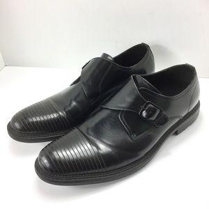 Kenneth Cole Reaction Cellar Monk Black Shoes 12M